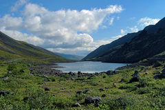 Dlinnoe lake in Khibiny Mountains, Russia Royalty Free Stock Photography