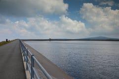 Dlouhé strà ¡ nÄ›水电厂, JesenÃky山,捷克 库存图片