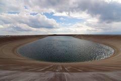 Dlouhe strane reservoir in Jeseniky mountains Royalty Free Stock Image