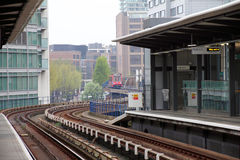 DLR station, London Royalty Free Stock Photos