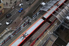 DLR station London, Docklands light railway Royalty Free Stock Photo