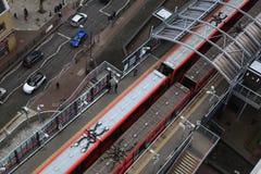 DLR station London, Docklands light railway. LONDON, UK - MARCH 03, 2014: DLR station London, Docklands light railway Royalty Free Stock Photo