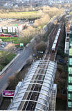 DLR station London, Docklands light railway. LONDON, UK - MARCH 03, 2014: DLR station London, Docklands light railway Royalty Free Stock Photos