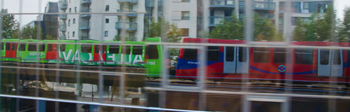 DLR train reflection Stock Photography