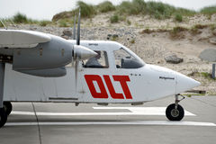DLT Airplane at Helgoland Airport Royalty Free Stock Image