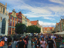 Dluga Street in Gdansk City Poland Royalty Free Stock Images