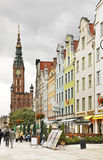 Dluga street in Gdansk. Poland Royalty Free Stock Photography