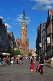 Dluga street in Gdansk, Poland Stock Photography