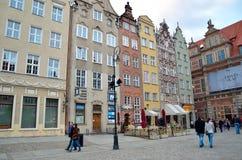 Dlugi Targ广场在格但斯克,波兰 免版税库存照片