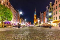 Dlugi Targ fyrkant i Gdansk, Polen fotografering för bildbyråer