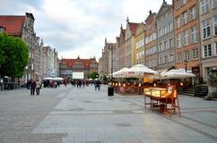 Dlugi Targ fyrkant i Gdansk, Polen Arkivbild