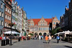 Dlugi Targ in Gdansk city center, Poland Royalty Free Stock Images