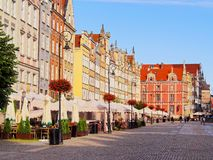 Dlugi Targ Street in Gdansk, Poland Stock Photo