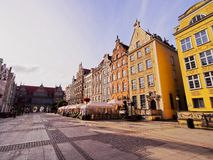 Dlugi Targ Street in Gdansk, Poland Royalty Free Stock Photos