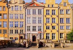 Dlugi Targ Street in Gdansk, Poland Royalty Free Stock Photo