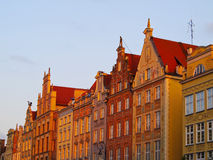 Dlugi Targ Street in Gdansk, Poland Royalty Free Stock Photos