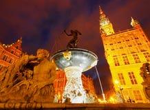 Dlugi Targ Street in Gdansk, Poland Stock Photo