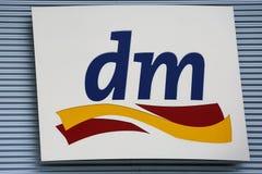 Dm drugstore logo Royalty Free Stock Image