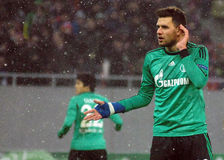 Ádám Szalai reacts during UEFA Champions League game Royalty Free Stock Image