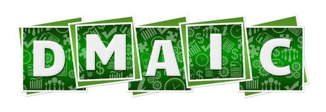 DMAIC  Green Business Texture Blocks. DMAIC text written over green background vector illustration