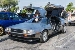 DMC De Lorean on exhibition at the annual event Supercar Sunday Royalty Free Stock Photos