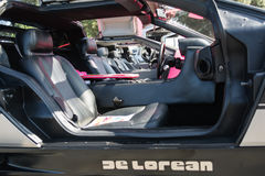 DMC De Lorean on exhibition at the annual event Supercar Sunday Stock Image