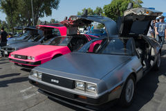 DMC De Lorean on exhibition at the annual event Supercar Sunday Stock Photography