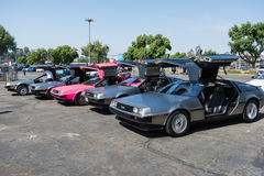 DMC De Lorean on exhibition at the annual event Supercar Sunday Royalty Free Stock Photography