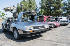 DMC De Lorean on exhibition at the annual event Supercar Sunday Royalty Free Stock Photo