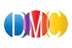DMC Logo Design. DMC Modern Logo Design Template Royalty Free Illustration