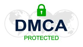DMCA - Digital Millennium Copyright Act - vector stock illustration