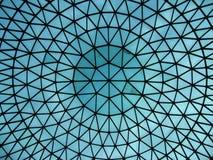 Dôme en verre de hall de gare Images stock