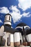 Dôme et croix d'église Photographie stock libre de droits