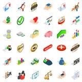 Dminance icons set, isometric style Royalty Free Stock Images