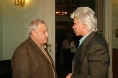 Dmitri Hvorostovsky and Eldar Aleksandrovich Ryazanov. The staff is great Royalty Free Stock Image