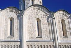 Dmitrievsky大教堂在弗拉基米尔,俄罗斯 库存图片