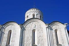 Dmitrievsky大教堂在弗拉基米尔,俄罗斯 免版税图库摄影