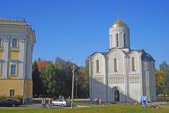 Dmitrievsky大教堂在弗拉基米尔,俄罗斯 免版税库存图片