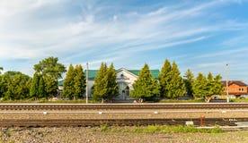 Dmitriyev-Lgovsky, a railway station in Kursk Region of Russia Royalty Free Stock Image