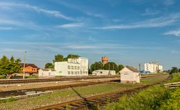 Dmitriyev-Lgovsky, a railway station in Kursk Region of Russia Stock Image