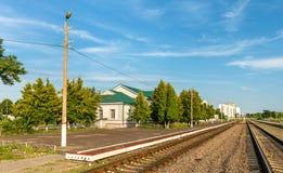 Dmitriyev-Lgovsky, a railway station in Kursk Region of Russia Stock Images