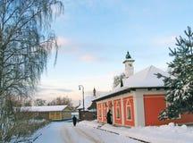 Dmitrov看法在冬天 图库摄影