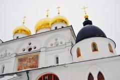 Dmitrov镇,俄罗斯 假定大教堂在Dmitrov克里姆林宫  免版税图库摄影