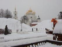 Dmitrov, Uspensky大教堂 库存图片