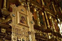 Dmitrov, Ρωσία - 10 Μαρτίου 2018 Αρσενικό μοναστήρι Borisoglebsky εσωτερικό Στοκ εικόνα με δικαίωμα ελεύθερης χρήσης