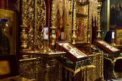 Dmitrov, Ρωσία - 10 Μαρτίου 2018 Αρσενικό μοναστήρι Borisoglebsky εσωτερικό Στοκ Εικόνες