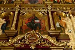 Dmitrov, Ρωσία - 10 Μαρτίου 2018 Αρσενικό μοναστήρι Borisoglebsky εσωτερικό Στοκ φωτογραφίες με δικαίωμα ελεύθερης χρήσης
