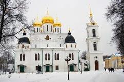 Dmitrov miasteczko, Rosja Wniebowzięcie katedra w Kremlin Dmitrov Obraz Stock