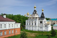 St. Elizabeth`s Church - The view from Earthen Rampart May 2012. DMITROV, MOSCOW REGION, RUSSIA Stock Photos