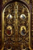 Dmitrov, Russia - 10 marzo 2018 porte dell'altare nel monastero del maschio di Borisoglebsky Immagine Stock Libera da Diritti